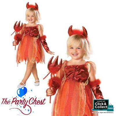 GIRLS LIL DEVIL FAIRY COSTUME Child Cute Devil Halloween Fancy Dress Outfit 2722