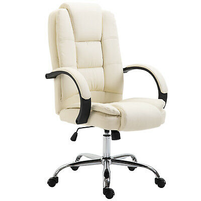 Executive Office Chair Ergonomic High Back 360° Swivel PU Leather Seat