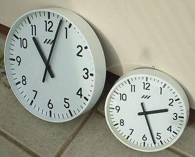 2-Off Gents Electric Alternative Polarity Slave Clocks For Master Clock