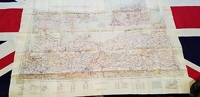 WW2 Double Sided Silk Map.  Eastern and Western Europe.