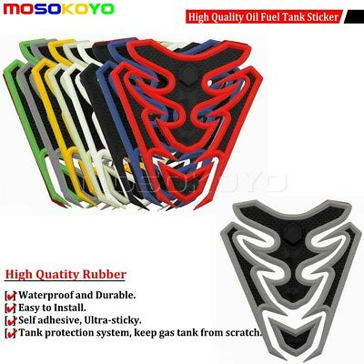 3D Rubber Motorcycle Oil Gas Fuel Tank Pad Protector Sticker Ultra-Sticky Decal