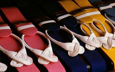 Traditional Boxcloth Braces (Suspenders) with Handsewn Goatskin Runners