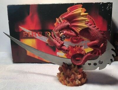 Fire Dragon Knife And Stand- Original Box