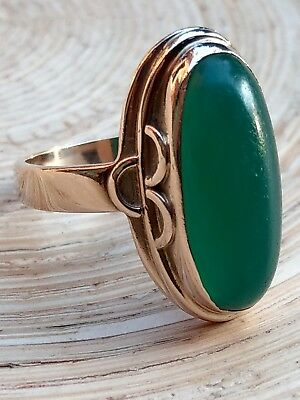 Alter Jade Ring 333er Gold 19 mm Top Zustand!