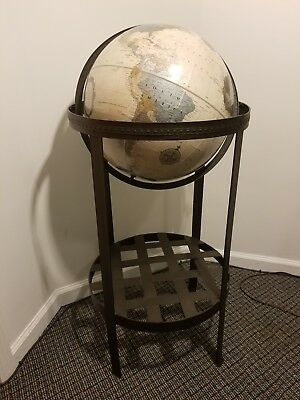 "Replogle 16"" Platinum Classic Series Floor Globe On Wrought Metal Stand"