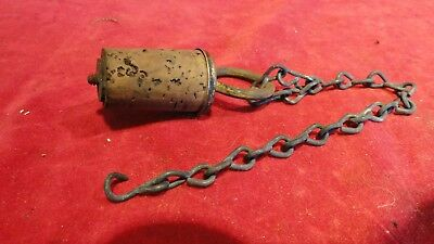 Orig Civil War Canteen Stopper Complete W/ Chain- Exc
