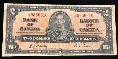 1937 Bank Of Canda Two Dollar