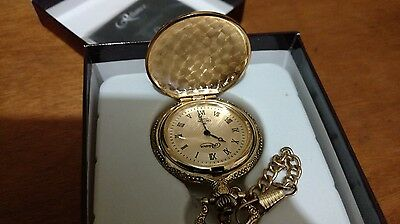 Thomas Edison Pocket Watch W Gold Dial 1897 Light Bulb Mens !!!