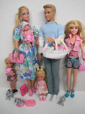 Barbie-Familie- Ken,skipper,chelsey,shelly Und Baby's