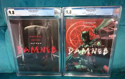 Batman: Damned #1 CGC 9.8 White Pages - Cover A + B Lot - 1st Print Unedited