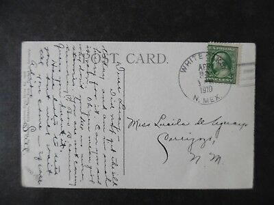 1910 White Oaks New Mexico Cancel on Postcard