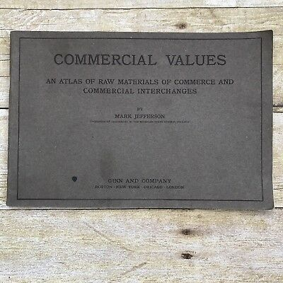 Vtg Antique Booklet 1912 Commercial Values Atlas Commerce Crop Sales Agriculture