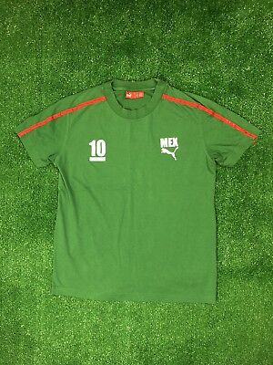 Mexico National Soccer Team FIFA Puma Green T Shirt Mens Size S Small World  Cup 20ded81df