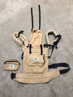 Used Ergo Baby carrier beige and black with detachable pouch