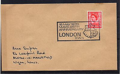 GB = 1970 `25th Anniversary of M.A.Y.C.` Event cover. LONDON S.W.1. (a)