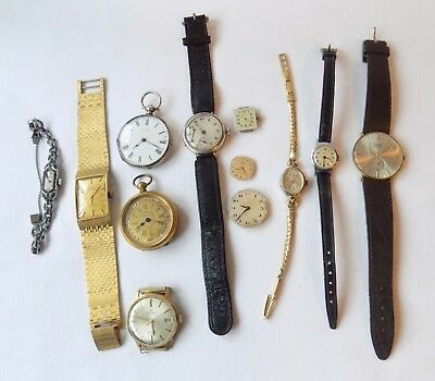 Job Lot Vintage Watches. John Forrest, Avia, Omega, Rolex ?  Spares Repair.
