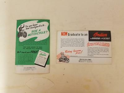 NOS 1940s Vintage Indian Motercycle postcards from Roxboro North Carolina