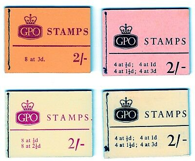GB  Stitched Booklets Queen Elizabeth 11  2/-   1953/1970