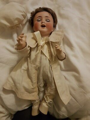 Antique Doll German With Clothes Vintage Made In Germany