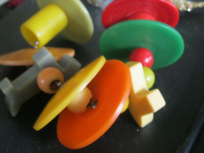 BAKELITE BABY RATTLE & TEETHING RINGS, Circa 1940s, WITH SCOTTY DOGS COOL