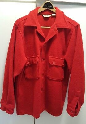 Boy Scouts of America BSA Red Wool Shirt Jacket Adult 44
