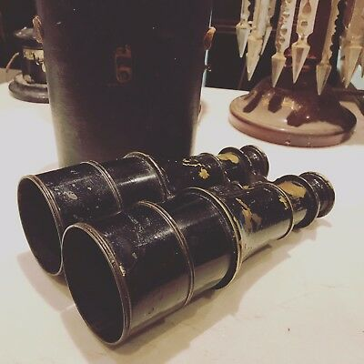 Antique Pair Of Military Issue Binoculars. Superb Quality.