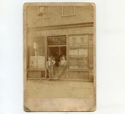 c1885 Cab Card of Fred Beck Store Front, New York City