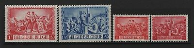 Belgium - 1945 War Victims & Post Office Relief Fund LHM