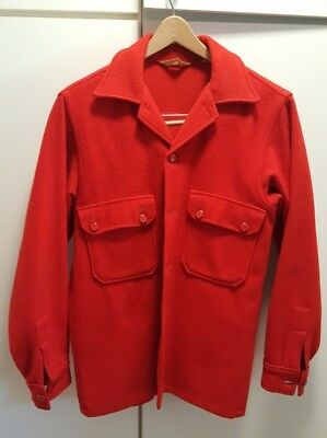 Boy Scouts of America BSA Red Wool Shirt Jacket Adult 40, circa 1970
