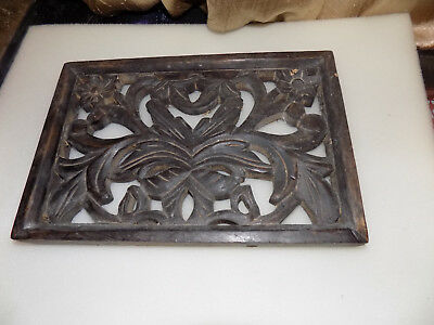 Carved wood grate vintage