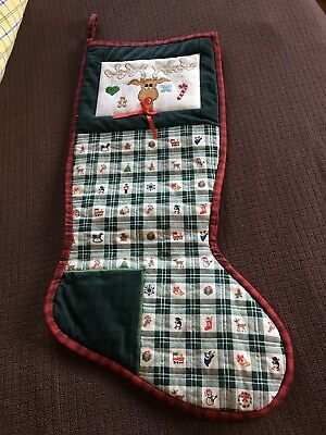 Handcrafted Cross Stitched Christmas Stocking