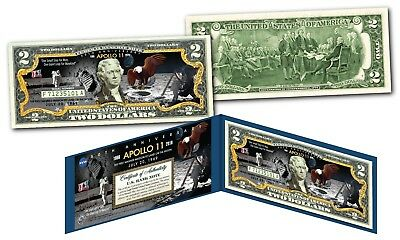 APOLLO 11 NASA Moon Landing 50th ANNIVERSARY Official Legal Tender $2 U.S. Bill