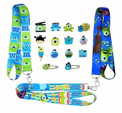 Monsters Inc. / University Lanyard Starter Set w/ 5 Disney Trading Pins ~ NEW