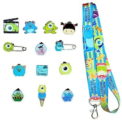 Monsters Inc. / University Starter Lanyard Set with 5 Disney Trading Pins ~ NEW