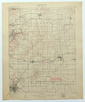 1907 Belleville Illinois Collinsville O'Fallon Antique 15-minute USGS Topo Map
