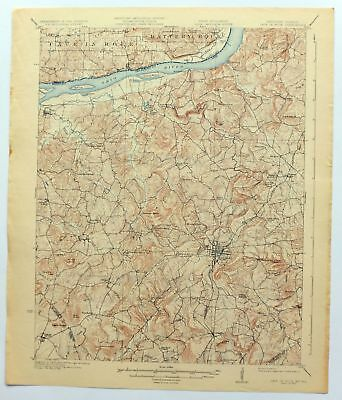 1925 Cave In Rock Kentucky Illinois Marion Vintage 15-minute USGS Topo Map