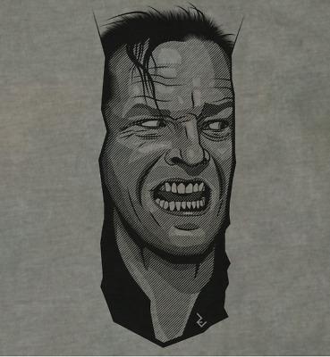 The Shining Here's Johnny T-Shirt - Inspired by Jack Nicholson by Rev Level