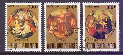 Niger  1981  Christmas Paintings by Botticelli, CTO.