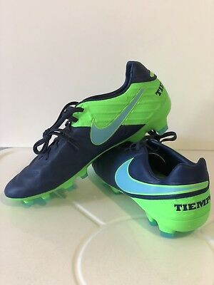 the best attitude 44cb6 d82b0 Nike Tiempo Legacy II FG Soccer Cleats Sz 9.5 Coastal Polarized Blue 819218- 443