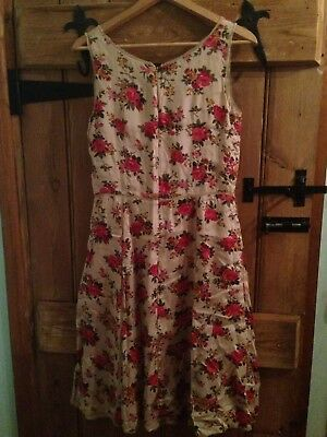 Beautiful Pretty Vintage Retro 50's 60's Style Dress By South Size 10 FREE POST