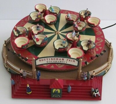 Mr Christmas Spinning Tea Cups Nottingham Fair with Original Box