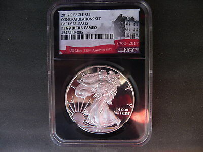 2017 s silver proof American eagle NGC PF 69 Ultra Cameo Early Releases