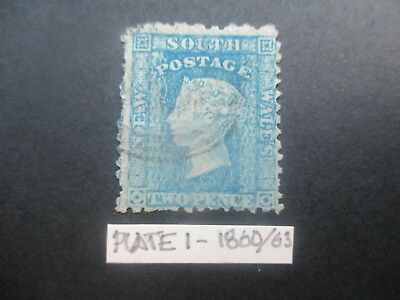 NSW Stamps: 2d Blue Plate 1 Diadems  Used    (k15)