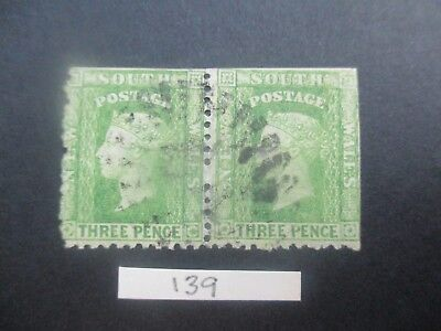 NSW Stamps: 3d Green Diadems Used    (k17)