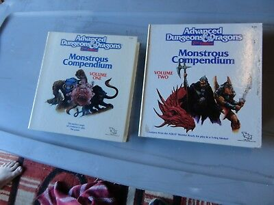 Advanced Dungeons & Dragons Monstrous Compendium Volume 1 & 2 Vol. Books