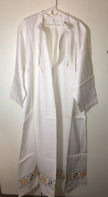 Linen Alb + Nice Embroidery + New Old Stock + Vestment
