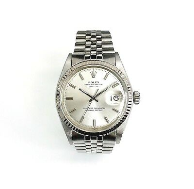 Vintage 1960's Rolex 36MM Datejust Watch Stainless Steel Ref # 1500 Factory Dial