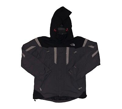 Men's The North Face Gore Tex Black & Gray Outdoor Cold Weather Jacket Coat Sz M