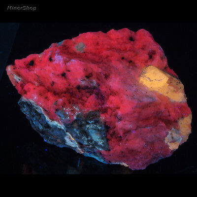 MSW2455: Large Scapolite (Marialite) on Calcite Afghan Fluorescent Mineral