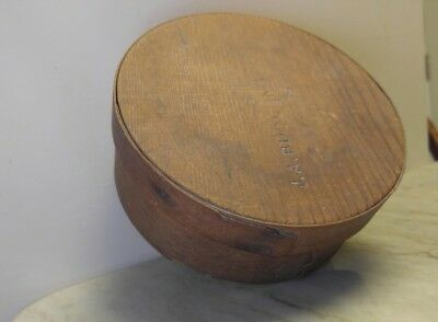 """Vintage Antique Primitive Wood Pantry Box, Murdock and Co, Stamped 6.5""""x 2.5"""""""